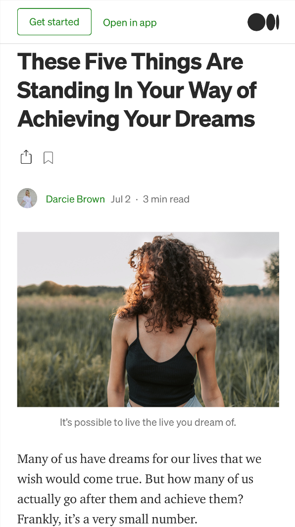 5-Things-Standing-Your-Way-Achieving-Your-Dreams_Darcie-Brown-LMFT-on-Medium