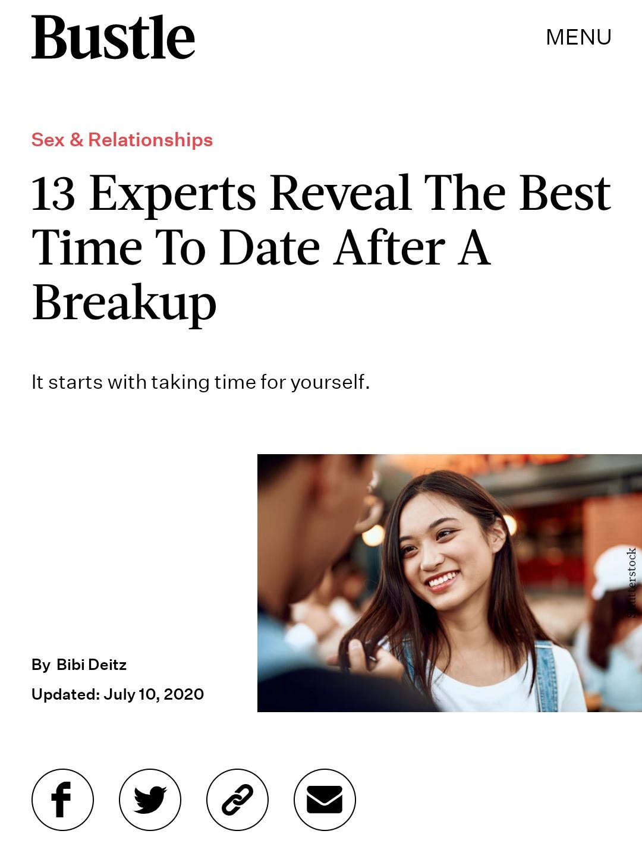13-Experts-Reveal-Best-Time-Date-After-Breakup_Darcie-Brown-LMFT-on-Bustle