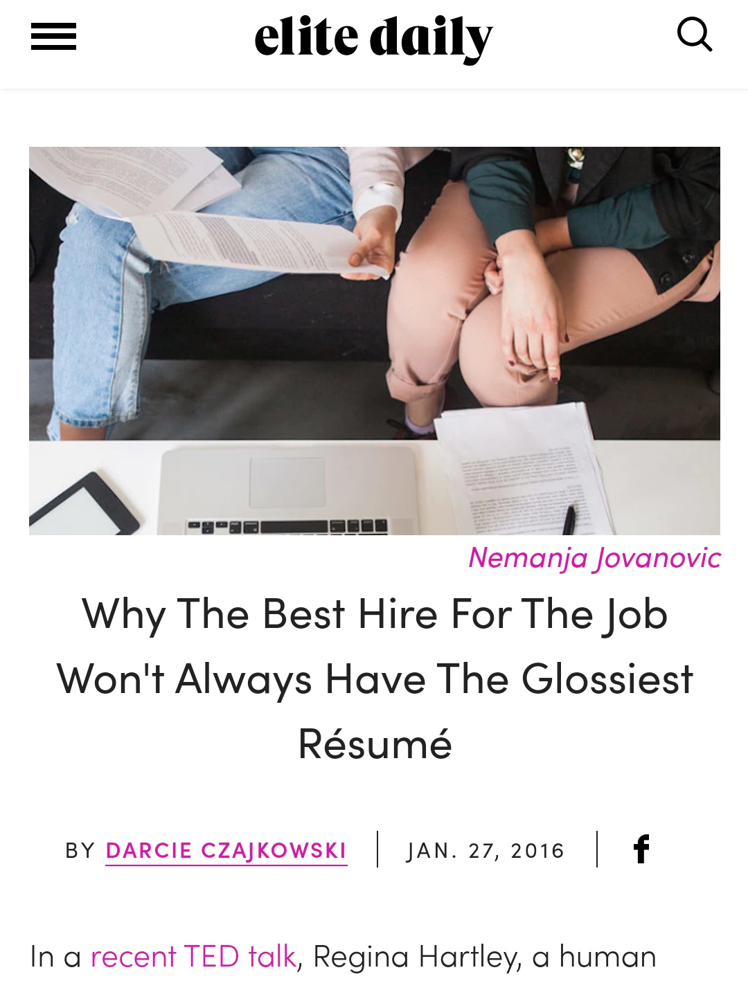 Why-Best-Hire-Won't-Always-have-Glossiest Resume_Darcie-Brown-LMFT-on_Elite-Daily