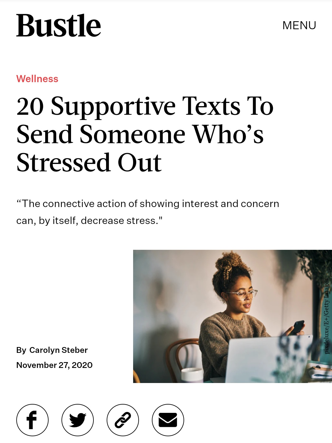 20 Supportive Texts to Send Someone Who's Stressed Out Darcie Brown, LMFT on Bustle