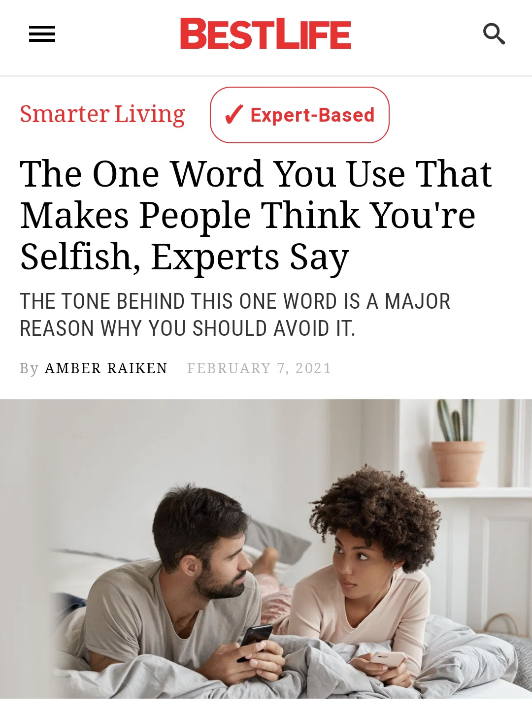 This One Word Makes People Think You're Selfish